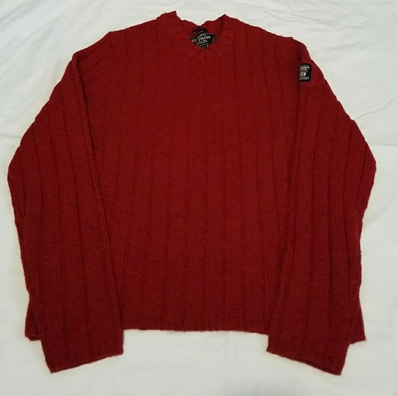 7b6dbe22 Abercrombie & Fitch Other - Abercrombie Muscle Sweater XL lambswool red v  neck