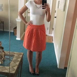 The Limited Orange Above The Knee Skirt
