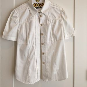 Diane von Furstenberg white blouse