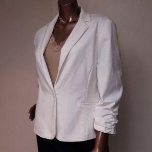 Cynthia Rowley Winter White Modern Twist Blazer