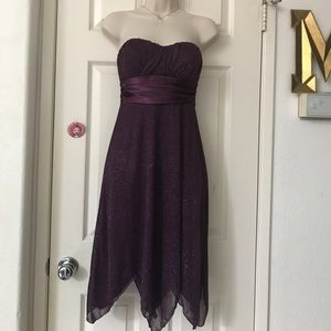 👗Speechless Purple Sparkly Evening Party Dress👗