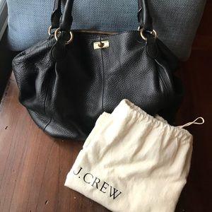 JCrew black leather bag