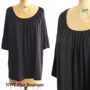 Tops - LAST ONE! Super Soft Striped Tee, New !