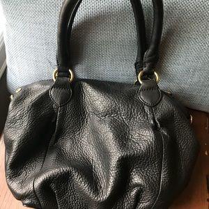 Small JCrew black leather bag
