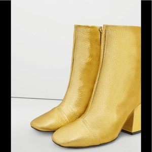 Mango Gold Booties