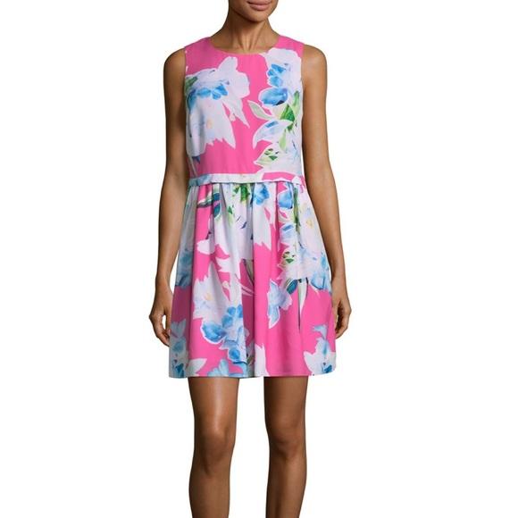 d38af6b0009 CeCe Pink Floral Dress