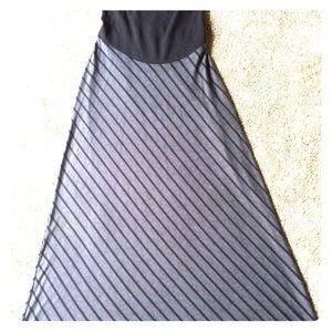 Motherhood Maternity black/gray maxi skirt