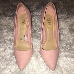 Shoes - Dusty Pink block heeled pump