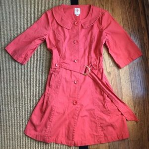 Anthropologie Tulle Trench Coat
