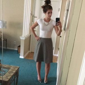 The Limited Gray Knee Length Skirt With Pockets
