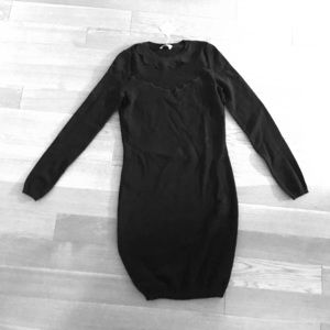 Red valentino black dress (long sleeve) size small