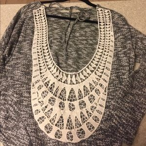 Boutique backless sweater