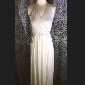 Cynthia rowley maxi dress cream