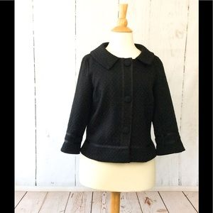 Notations Black Cropped Bell Sleeve Blazer Jacket