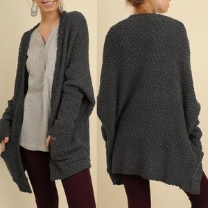 BETHANY Softest MUST HAVE Cardi  - CHARCOAL