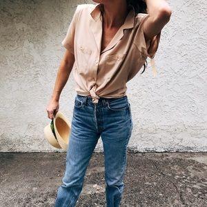 Diane Von Furstenberg // camel 🐫 vintage top