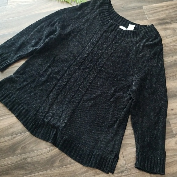 45% off White Stag Sweaters - Beautiful black with sparkle sweater ...