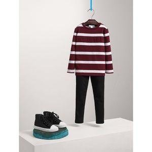 Burberry Long-sleeve Striped Cotton T-shirt