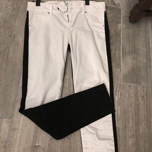 Hudson black and white skinny jeans
