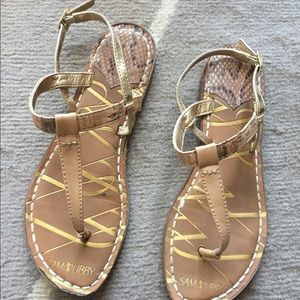 SAM & LIBBY Sam Edelman Cork T-Strap Sandals 6