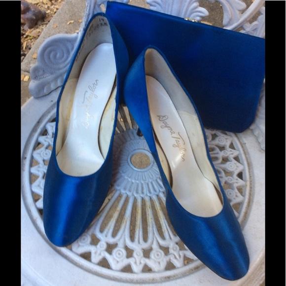Vintage Shoes - Vintage PROM Heels Shoes 1950-60 Dye Match Bag