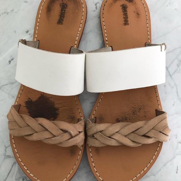 629a9132fd11 Soludos Leather Braided Slide Sandal. M 5a04afbd522b45cb18041594