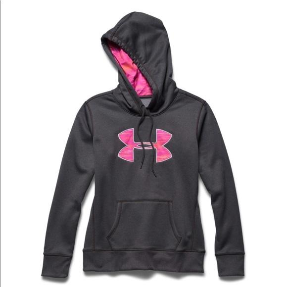 pink womens under armour hoodie