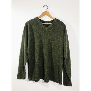 Forest Green V-Neck Sweater