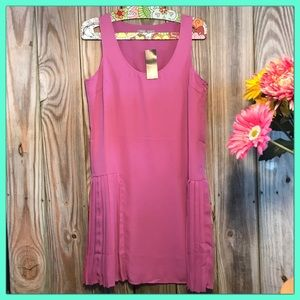 🌸Adorable Fuchsia drop waist pleated dress🌸