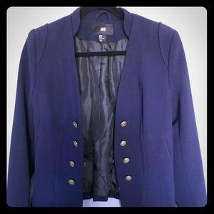 Jackets & Blazers - H&M beautiful navy  blazer Size 8