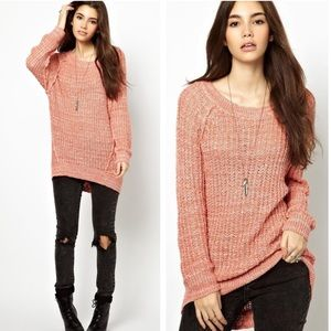 •Free People• Star Dune Knitted Marled Pullover