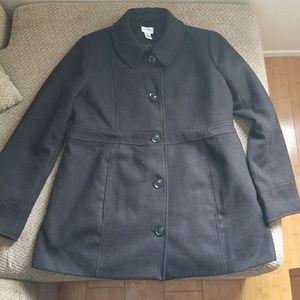 Motherhood maternity black pea coat size medium