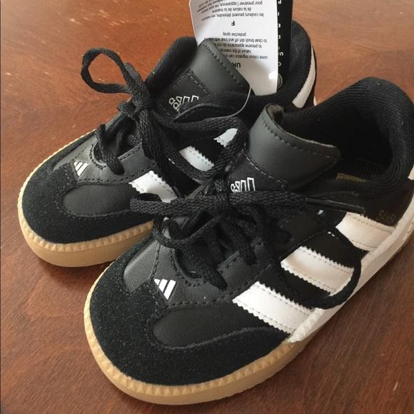 Adidas Samba Millenium Soccer Shoe Black Sz 7Kids a57e3cac9