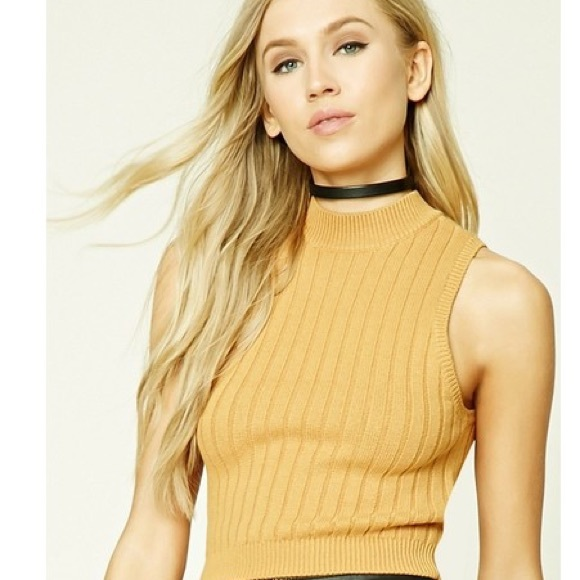 1ac803d0610 Forever 21 Tops - 🔴Forever 21 Mustard Ribbed Crop Top
