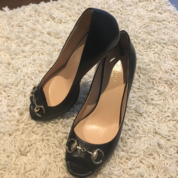"5926b859f68 Gucci Shoes - Gucci ""New Hollywood"" peep toe pump"
