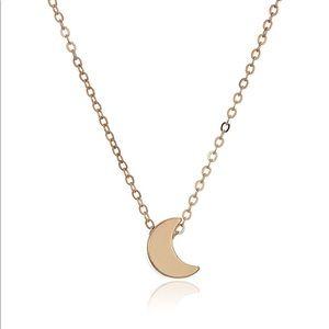 New Rebecca Minkoff Gold Moon Pendant Necklace