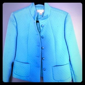Jackets & Blazers - Casual Corner turquoise blue blazer - size 4