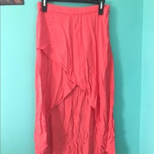 XII Coral Hi-Low skirt