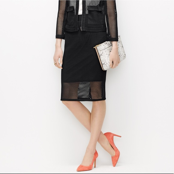 781dcbec85 Ann Taylor Black Mesh Pencil Skirt. M_5a04c4d278b31ce2eb0478b9