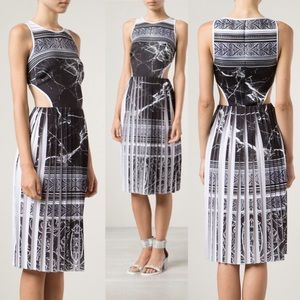 Clover Canyon Marble Pleated Cut Out Dress