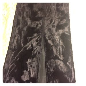 Elegant long velvet skirt
