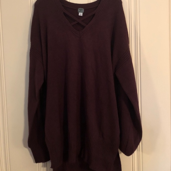 Poof! - Tunic length sweater from Kelly's closet on Poshmark