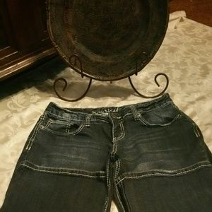 A pair of Maurices Curvy Fit jeans