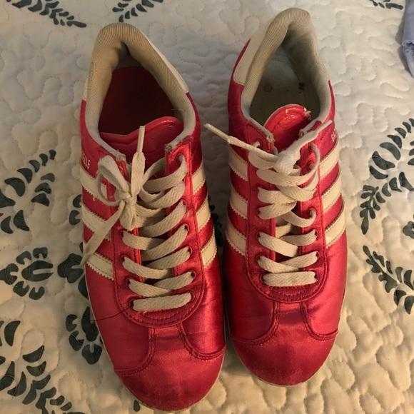 adidas scarpe rosa nilon dimensioni 6 donne poshmark