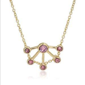 Rebecca Minkoff Gold & Purple Fan Necklace