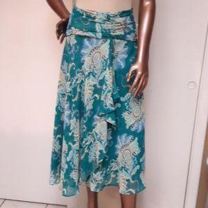 NWT Bandolino Jade Floral Paisley Full Skirt