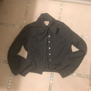 Nanette Lepore - pure cashmere bow neck cardigan