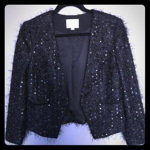Jackets & Blazers - Ann Taylor sparkly black blazer size 6