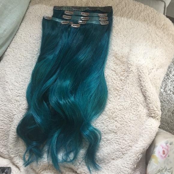 Foxy Locks Accessories Blue Human Hair Extensions Poshmark