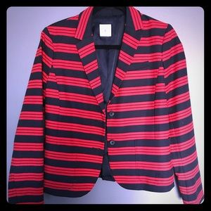 Jackets & Blazers - Gap academic navy and red stripe blazer
